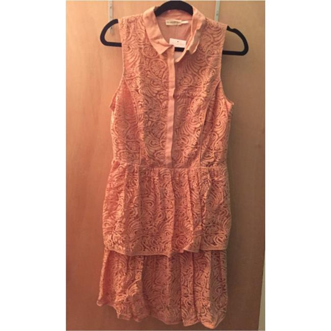 c62ed3859fb1 Anthropologie Nude Tiered Lace Above Knee Cocktail Dress Size 12 (L ...