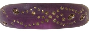 Alexis Bittar Alexis Bittar Purple and Crystal Hinge Oval Bangle Bracelet