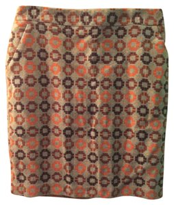 Forever 21 Skirt Grey/orange