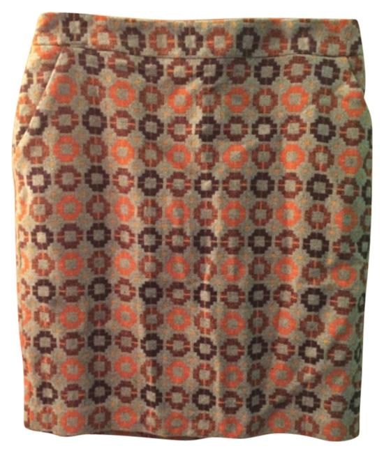 Item - Grey/Orange Love21 Skirt Size 12 (L, 32, 33)