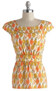 Modcloth Fruit Citrus Top