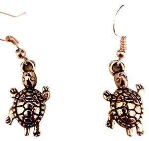 Other TURTLE TIBETAN SILVER DANGLE EARRINGS