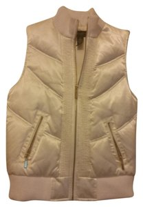 Style & Co Cream White Feather Down Vest