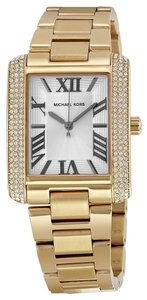 Michael Kors Gold Crystal Pave Classic Elegant Ladies Watch