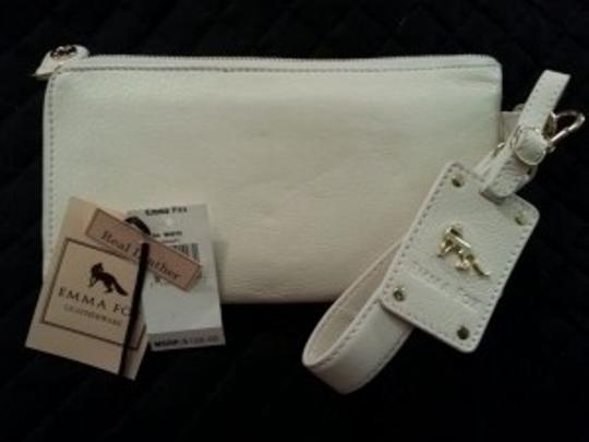 Emma Fox Wristlet in White