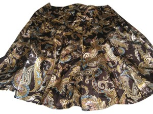 Worthington Skirt Brown with earth tones