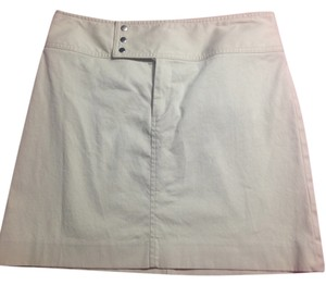 Banana Republic Size 4 Cotton Mini Unlined Mini Skirt khaki