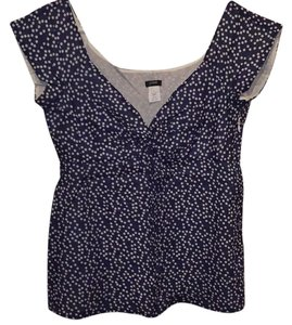J.Crew Top Blue with white polka dots