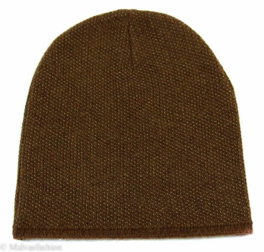 Gucci Gucci Multicolor 352350 Men's Medium Beanie Ski Brown/Beige Hat Image 1