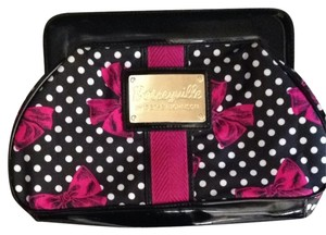 Betseyville by Betsey Johnson Black White Polka Dot Clutch