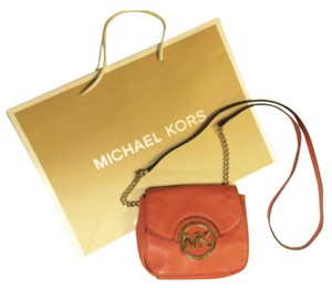 Michael Kors Burnt Orange Clutch