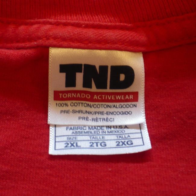 TND Tornado Activewear Men 2xl 2x Xxl T Shirt Red