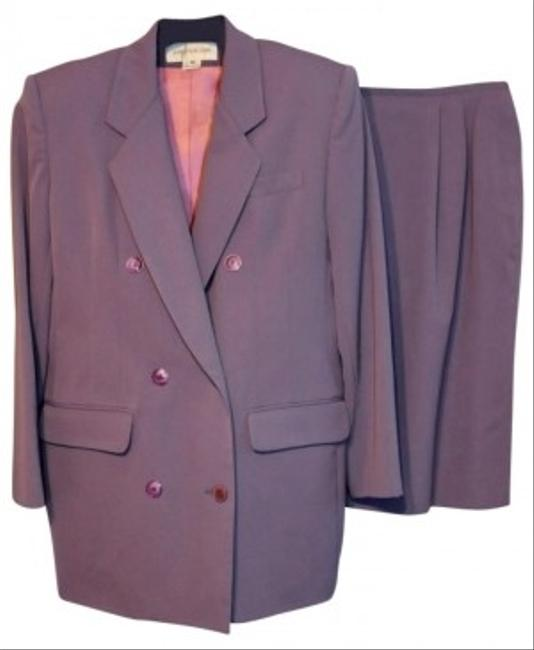 Jones New York Dusty Lavender Double Breasted Skirt Suit