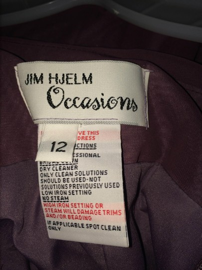 Jim Hjelm Occasions Frosted Violet Chiffon/Polyester 5213 Formal Bridesmaid/Mob Dress Size 8 (M)