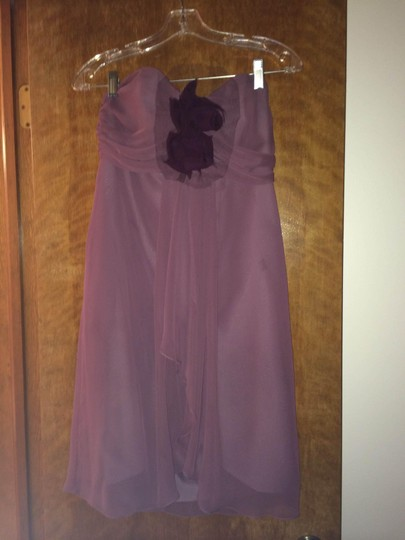 Jim Hjelm Occasions Frosted Violet Chiffon/Polyester 5213 Formal Bridesmaid/Mob Dress Size 2 (XS)