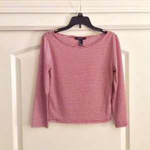 Forever 21 T Shirt Red/White Striped