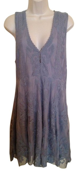 Item - Blue Grey Reign Over Me Mini Night Out Dress Size 10 (M)