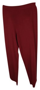 Eileen Fisher Wool Knit Relaxed Wide Leg Wide Leg Pants Dark Red or Dark Navy