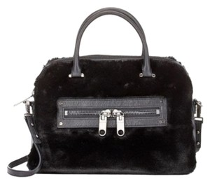 MILLY Fur New Satchel in Black