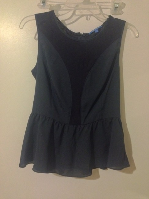 Gianni Bini Peplum Peplum Top Navy