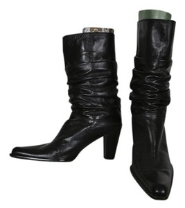 Stuart Weitzman Ruching Black leather Boots