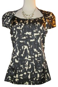 Ann Taylor Abstract Camouflage Bolero Top Black, Blue, Ivory or Cream
