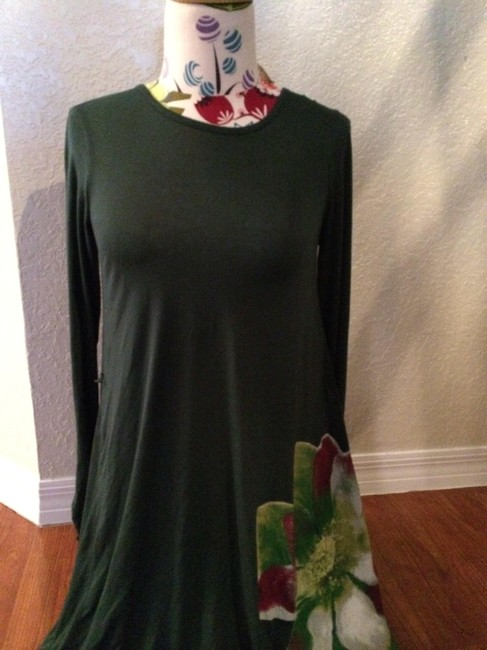 Other short dress Hunter green Mid Length Belted on Tradesy