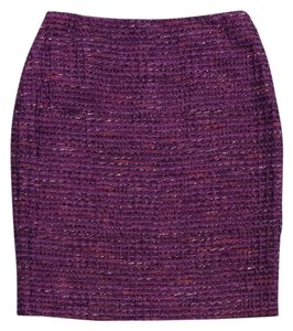 Lafayette 148 New York Purple Tweed Suit Skirt