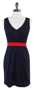 Shoshanna short dress Navy Red Cotton on Tradesy