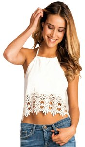 Stone Cold Fox Coachella Top white