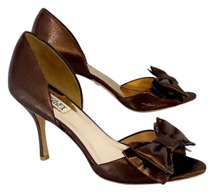 Badgley Mischka Bronze Open Toe Heels Sandals