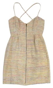 Leona short dress Rainbow Tweed Zip Front on Tradesy