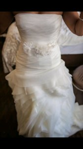 Vera Wang Organza Fit And Flare Gown With Bias Flange Skirt Style Vw351011 Wedding Dress