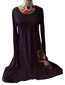 Other short dress Plum Watercolor Midi on Tradesy