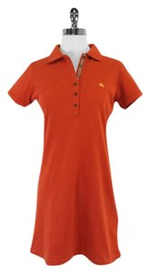 Burberry short dress Orange Cotton Polo Polo on Tradesy