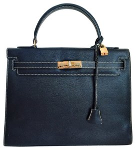 Cristian Kelly Top Handle Genuine Leather Made In Italy Handbag Satchel in Black