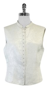 Giorgio Armani Off White Button Up Vest