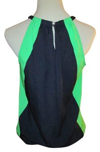 New York & Company Keyhole Navy, Blue, Green Halter Top