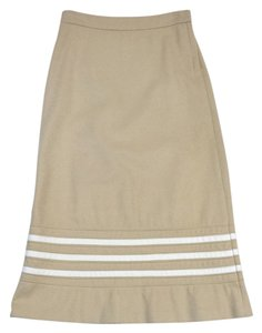 Marc Jacobs Beige White Long Wool Skirt