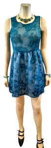 I Love H81 short dress Blue Teal P754 on Tradesy