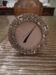 Not Rated Silver Rhinestone Table Number Frames Reception Decoration