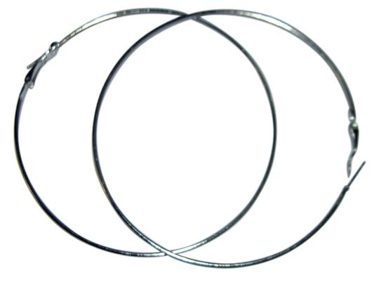 "Sabella 3"" Silver hoop earrings - great statement with your favorite jeans"