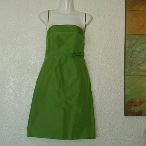 J.Crew Green Silk Tafetta Formal Bridesmaid/Mob Dress Size Petite 6 (S) - item med img