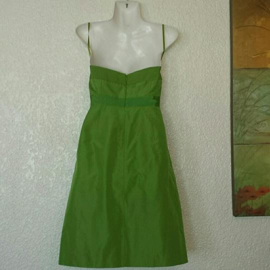 J.Crew Green Silk Tafetta Formal Bridesmaid/Mob Dress Size Petite 6 (S)