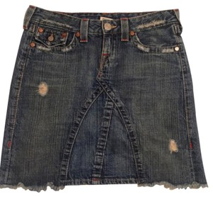 True Religion Silver Hardware Skirt Denim