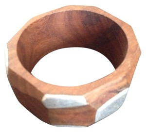 unknown Wood Cuff with Silver accent