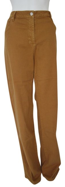 Item - Tan Medium Wash Nordstrom Misses Colored Stretch 14 Straight Leg Jeans Size 35 (14, L)