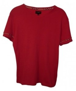 Burberry T Shirt Red & Plaid