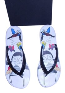 Marc by Marc Jacobs Miss Graphic Design White Sandals