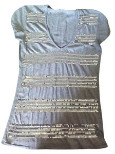 Kenneth Cole Sequin T Shirt Gray